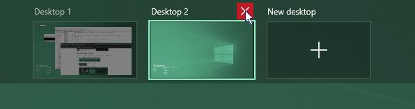 Close a desktop