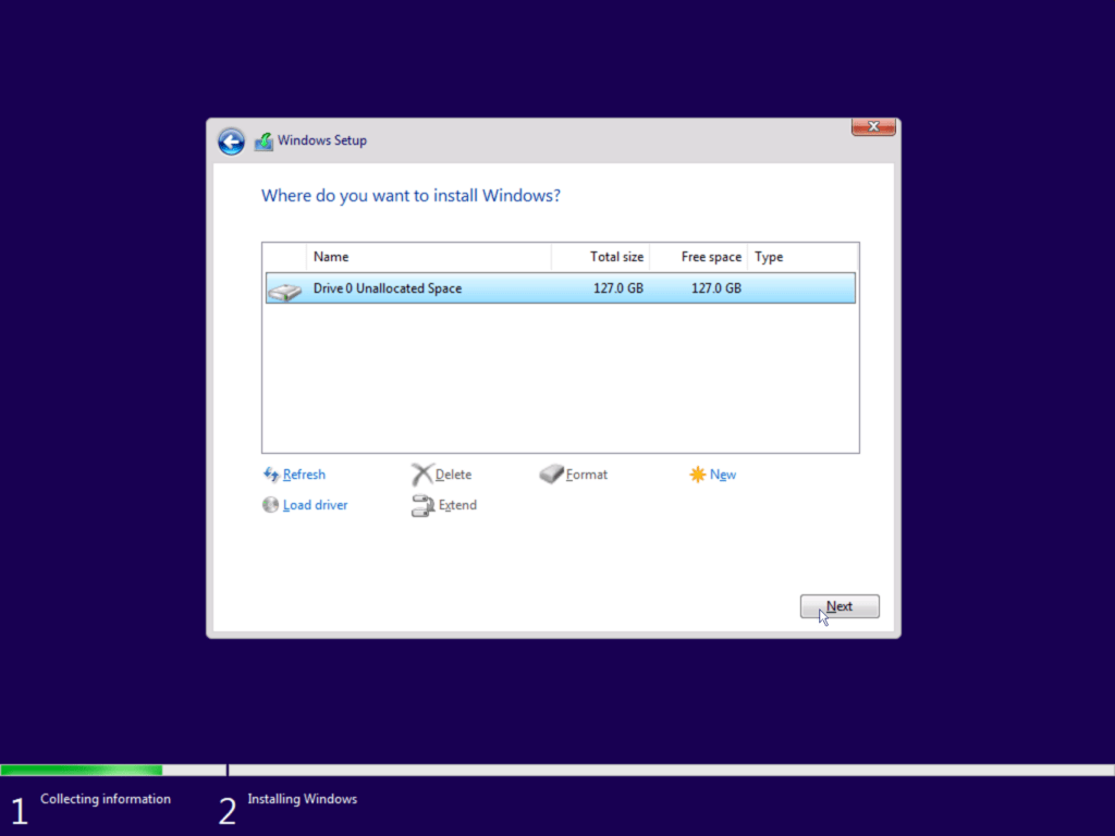 How to install Windows 10 step 7