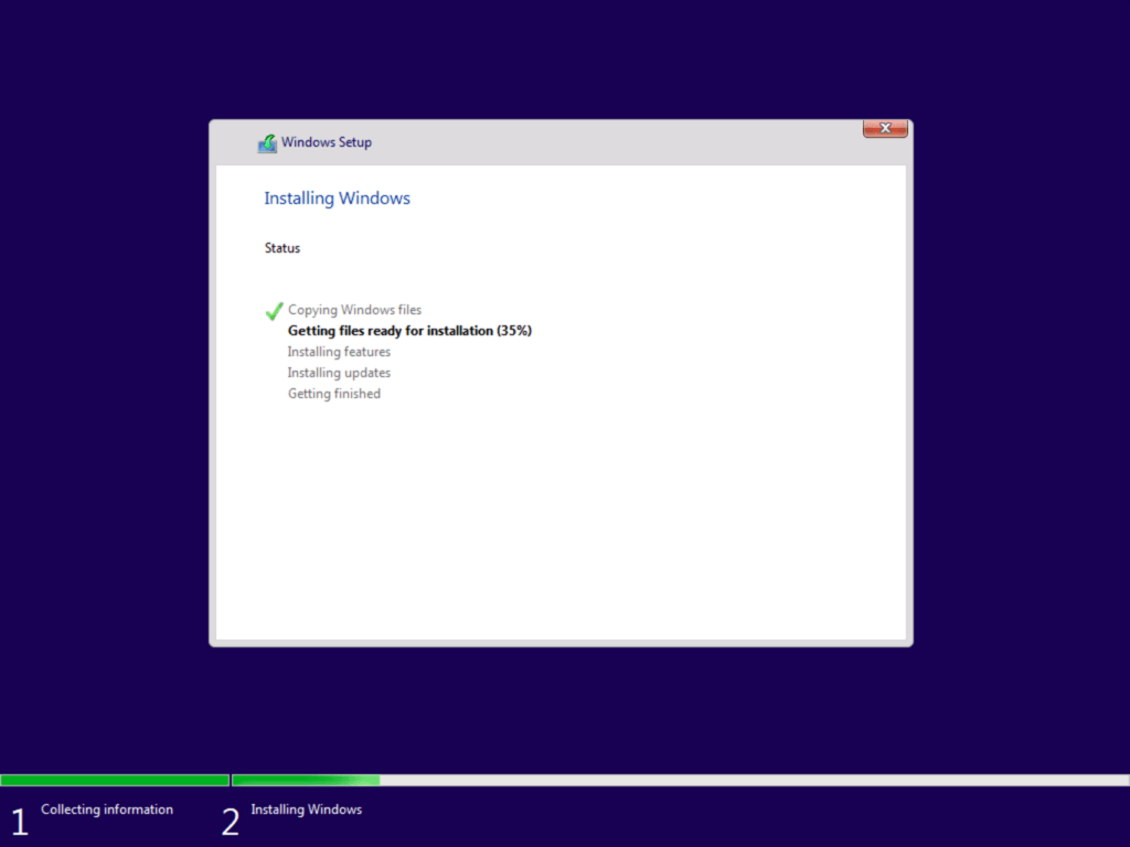 How to install Windows 10 step 8
