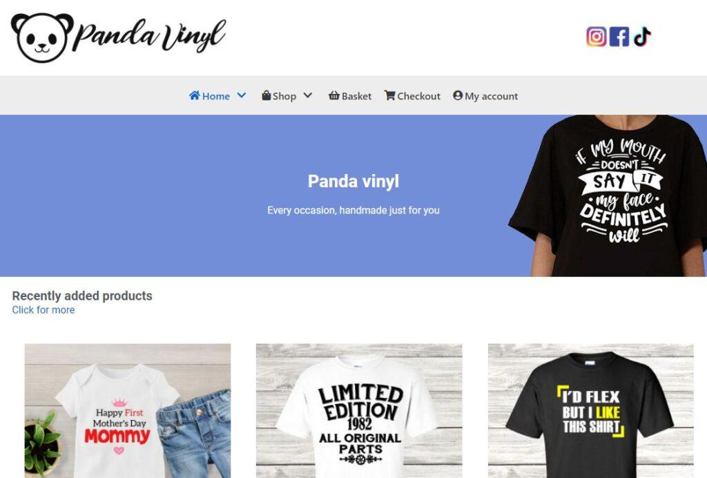 Web design and hosting: Panda Vinyl Website