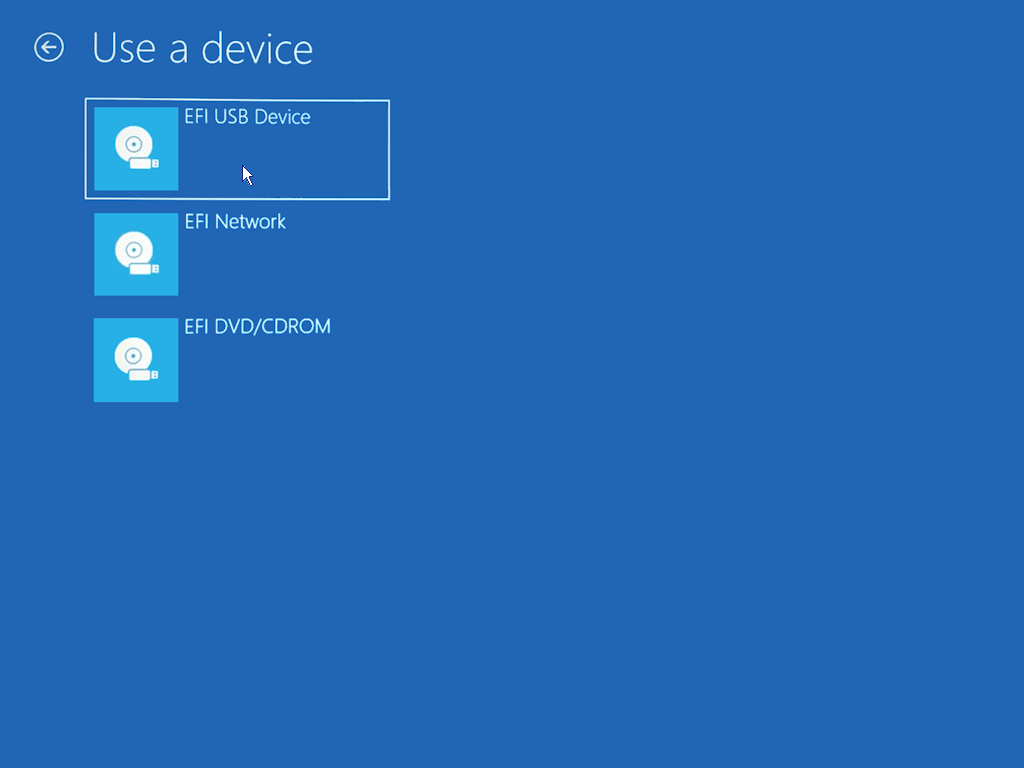 How to install Windows 10 - Restart from USB 5