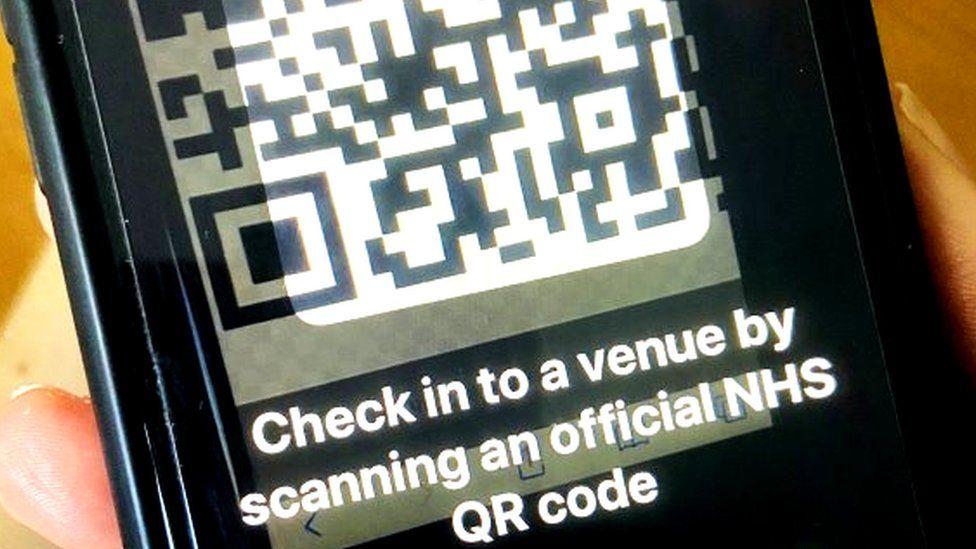 NHS Covid-19 QR code